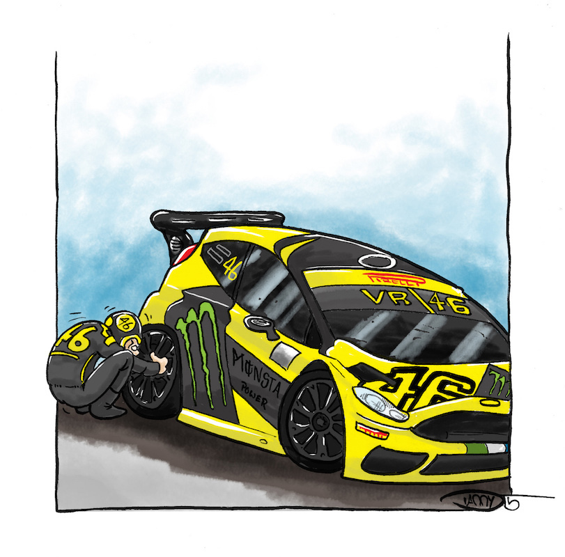 Monza Rally win for Rossi