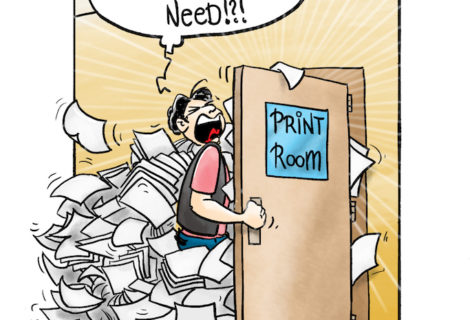 The print room with an extra few zeros added